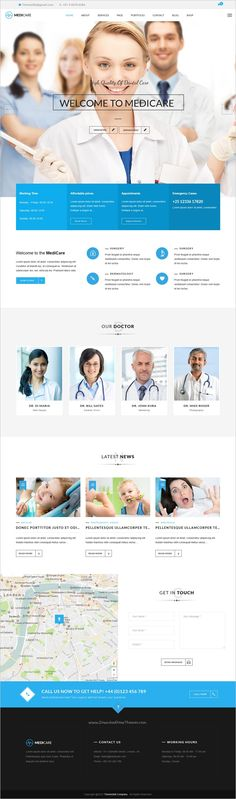 MediCare is a wonderful 4in1 responsive #WordPress theme for #medical, dental clinics, #hospitals, research centers or pharmacies website download now➩ https://themeforest.net/item/medicare-dentist-health-wordpress-theme/17642007?ref=Datasata