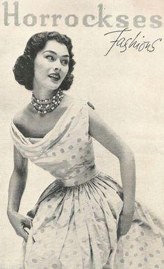 Horrockses Fashions dress advert 1953