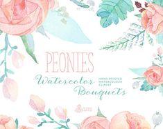 Lavender Watercolour Bouquets & Wreath Clipart. by OctopusArtis