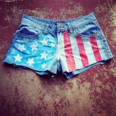 Did my own pair of American Flag shorts!