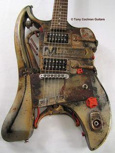 MOD-U-LINE Relic steampunk cstom electric guitar Picture