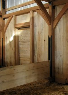 Removable Foaling Stall Wall. This would be a great idea.