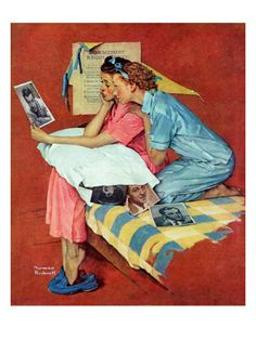 """Norman Rockwell - """"Movie Star"""" 1938"""