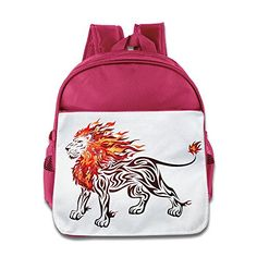 MYKKI Angry Lion Children Personalize Backpack Pink *** For more information, visit image link.