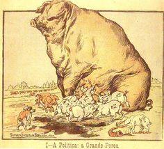 'A Grande Porca' por Rafael Bordalo Pinheiro