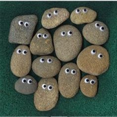 Easy and cute!  Lots of phrases can be added with a paint pen.  Our residents rock!  You would be a great addition to our rock garden.  You rock!  Our community rocks!