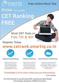 SmartIQ CET Rank Predictor  http://cetrank.smartiq.co.in