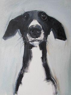 Ideas For Illustration Art Dog Paintings Black And White Dog, White Dogs, Black And White Artwork, Black Art, Animal Paintings, Animal Drawings, Dog Drawings, Art Et Illustration, Illustration Simple
