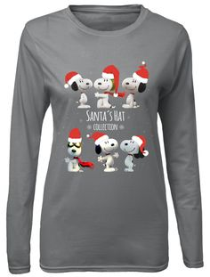 Each shirt is designed, printed, and shipped from the USA, utilizing screen printing on premium material. Snoopy Gifts, Peanuts T Shirts, Christmas Snoopy, Peanuts Quotes, Snoopy Pictures, Snoopy T Shirt, Peanuts Snoopy, Screen Printing, Christmas Sweaters