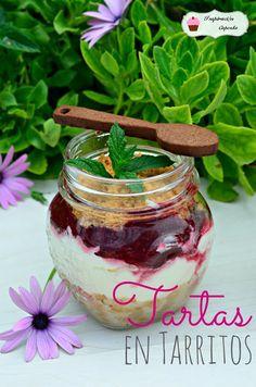 Inspiración CupCake: Tartas en Tarritos (Mini delicias de Frambuesa y Mascarpone con choco-cucharitas) Vacaciones para perderse en ninguna parte...