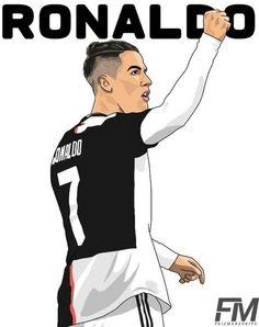 Ronaldo Football, Football Players, Cristiano Ronaldo Wallpapers, Cartoon Wallpaper, Art Sketches, Dragon Ball, Drawing, Illustration, Hs Sports