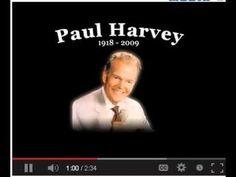 Full Audio and Text of Paul Harvey's Original 'So God Made a Farmer' Spe...
