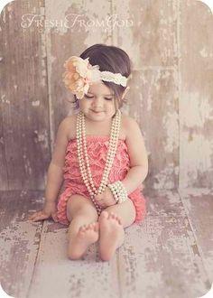 Lace, ruffles, & pearls :)