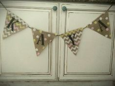 It/'s A Boy//Girl Hearts Bunting Banner Garland Baby .Shower Party Hanging Decor s