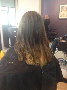 Caramel ombre for the fall