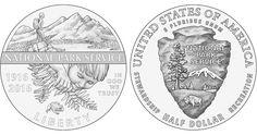 2016 National Park Service Clad Half Dollar