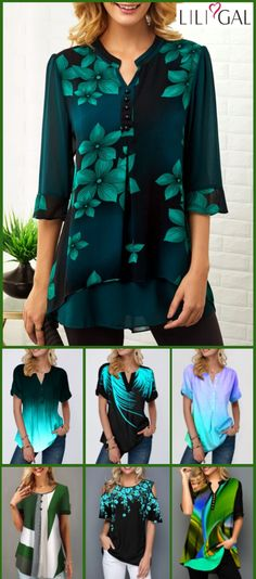 #coupons $8 off over $80, $20 off over $150, code: liligal2019 .Free Shipping & Easy Return. Liligal cute tops down to $USD28, shop now~ #liligal #womensfashion #blouse #tshirt Casual Tops For Women, Blouses For Women, Ladies Tops, Cool Outfits, Fashion Outfits, Womens Fashion, Textiles, Blouse Styles, Free Shipping