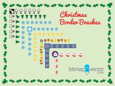 Free Illustrator Christmas Brushes border. #christmasbrushes