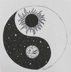 moon. sun. yin and yang.