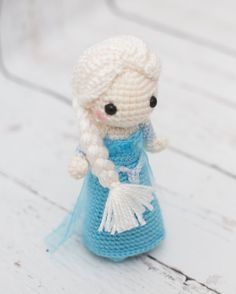 Frozen inspired Elsa crocheted doll by TheLittleWildlings on Etsy