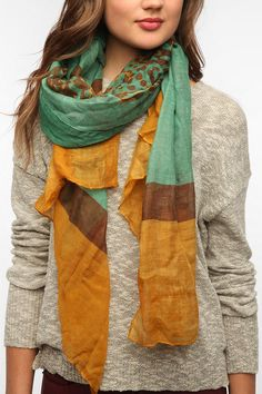 UO Leopard Camo Scarf Online Only
