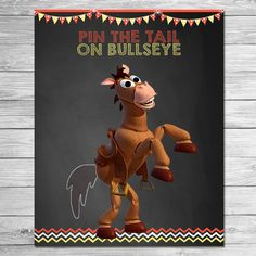Toy Story Pin the Tail on Bullseye Chalkboard / Toy Story
