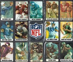 VINTAGE STANCRAFT/DAVE BOSS artwork (THE 1966 NFL) PLAYING CARD COLLECTIBLE    #NFL