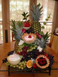 Belham Living Kennedy Buffet Buffets Sideboards At . How To Decorate A Buffet Table In Dining Room. Home and Family Fruit Salad Decoration, Food Table Decorations, Decoration Table, Christmas Buffet Table, Fruit Buffet, Fruit Platters, Fruit Tables, Party Platters, Veggie Display