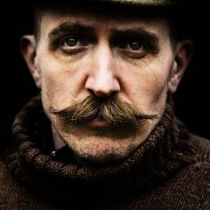 A man and his moustache