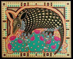 armadillo in advertising art | visit sandysarttales com