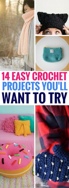 Easy Crochet Projects With Free Step By Step Tutorials - Amazing crochet tutorials that are so easy and PRETTY!! Definitely going to be making a few of these soon!