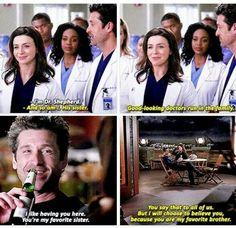 Dr. Derek Shepherd and Dr. Amelia Shepherd