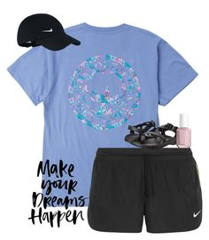 """""""I'm currently in Atlanta for a dance comp and Ansel Elgort & Lilly James are near my hotel filming a movie!!!!"""" by preppy-southern-girl88 ❤ liked on Polyvore featuring NIKE, Chaco and Essie"""
