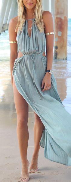 Flowy beach maxi boho bohemian gypsy style dress. For more follow www.pinterest.com/ninayay and stay positively #inspired.