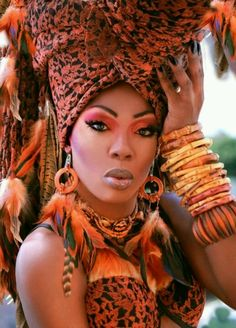 Bebe Zahara Benet the most beautiful drag queen African Beauty, African Women, African Fashion, African Style, African Makeup, Ankara Fashion, Ethnic Fashion, African Art, My Black Is Beautiful