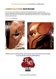 Deathstroke foam helmet tutorial by Roses and Boltshells