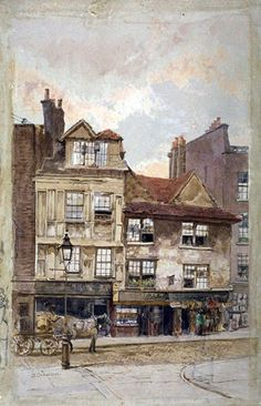 size: Giclee Print: View of Nos Drury Lane, Westminster, London, by John Crowther : London Drawing, Victorian London, London History, London Pictures, Old Bricks, Old Street, Tropical Art, Beach Landscape, Old London