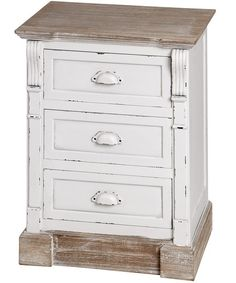 Distressed bedside table - a French Provence style furniture unit and stylish decor.
