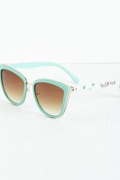 Modcloth Rays Me Up Sunglasses in Mint Floral, $19.99 | 27 Pairs Of Super-Cute Sunglasses Under $25
