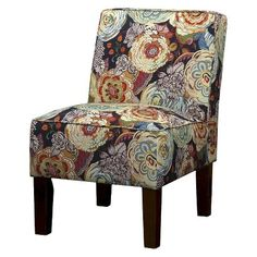 Burke Slipper Chair – Garden Floral