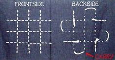 Resultado de imagen de bordados sashiko en mantel