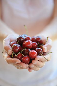 Cherries.. YUMMMMMM! I want some!