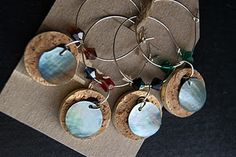 Wine cork charms - wish I had seen this before Christmas, but I suppose there's always next year!
