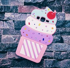 Cute 3D Delicious Ice Cream Samsung Galaxy J5 j7 Cases Cartoon Soft Silicone Phone Cases Cover For Samsung Galaxy J1 J1ACE J2 J5 J7 A5 E5 A7 back cover