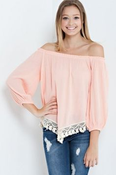 Off the Shoulder Cream Top | Southern Shine Mobile Boutique