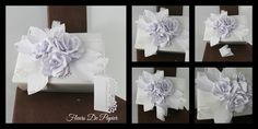 Fleurs de papier blanches