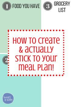 This post includes tips to create and actually stick to your meal plan, plus you can download a free meal planning template!