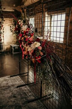 Dark Moody Wedding Decor | October Wedding Ideas | Autumn Wedding | Dramatic Wedding Style | Vintage Wedding | Peaky Blinders Style Wedding | Unique Wedding Deocr | Church Wedding thoughtfullydesignedco.com