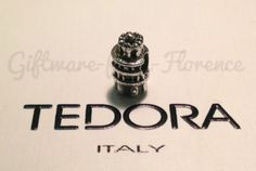 GENUINE-TEDORA-CHARM-LEANING-TOWER-OF-PISA-STERLING-SILVER-BRACELET-NO-PANDORA