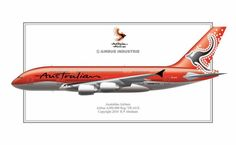Australian Airlines (AO) fantasy livery for the A380 Airbus A380, Boeing 747, Australian Airlines, Airplane Drawing, Airline Travel, Packing List For Travel, Thailand Travel, Travel Posters, Travel Pictures